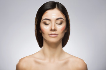 Girl with contouring make-up