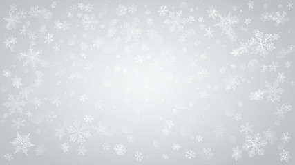 Background of falling snowflakes