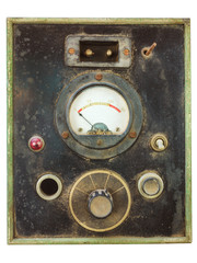 Vintage control panel with volt meter