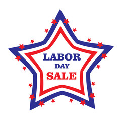 US Labor day. American Labor day, discounts, sale. Vector illustration.