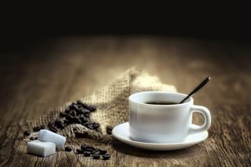 Aluminium Prints Coffee beans expresso