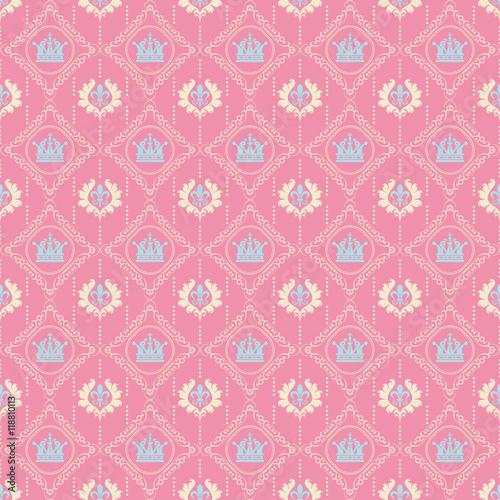 Seamless Pattern Royal Pink Wallpaper