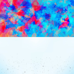 Fototapete - Abstract background with triangles, lines and gradients