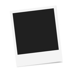 Polaroid photo frame vector isolated