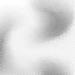 White abstract background with black and white halftone texture, dotwork, circles pattern for design concepts, banners, posters, wallpapers, web, presentations and prints. Vector illustration.