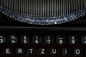 Schreibmaschine - Nahaufnahme von oben