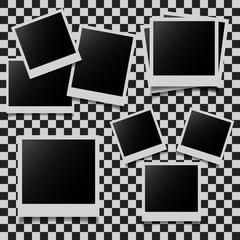 Retro photo frames set