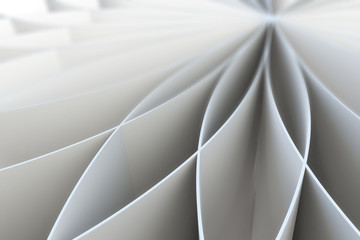 Abstract pattern of a folded blank pages.3d illustration