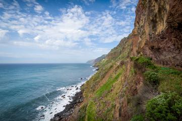 Madeira island south shore rocks.