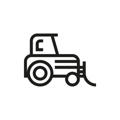 Tractor icon on white background