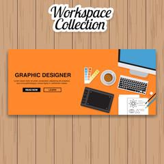 Graphic Design Workspace Vector