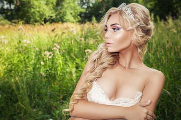 Bride in nature