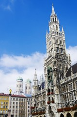 Marienplatz and the new city hall, Munich, Bavaria, Germany