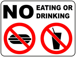 Prohibition Signs for Eating and Drinking
