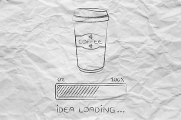 coffee tumbler and progress bar loading idea