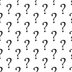 Question symbol seamless pattern. Vector illustration.