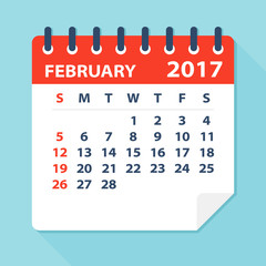 February 2017 calendar -