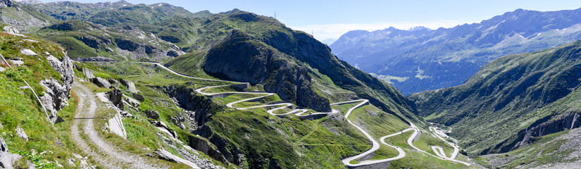 Old road which leads to St. Gotthard pass Wall mural
