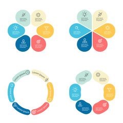 Circular infographics with 6 sections.