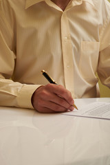 signing of the document husband