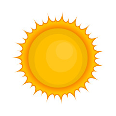 Sun icon in cartoon style isolated on white background. Planet symbol