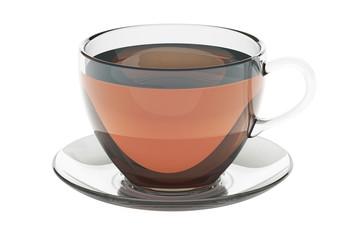 Cup of tea, 3D rendering