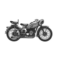 Motorcycle hand drawn icon M-72