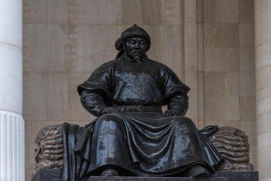 Kublai Khan Denkmal in Ulan Bator