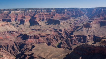 Grand canyon in the summer