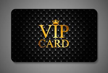 Elegant Dark VIP Card Vector Illustration