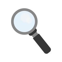 flat design magnifying glass icon vector illustration