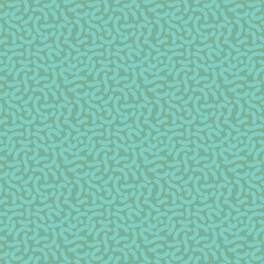 Seamless thick squiggle pattern tile - green on green
