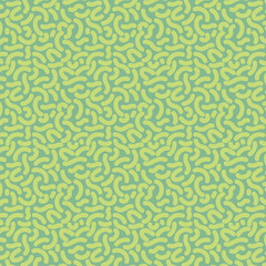 Seamless thick squiggle pattern tile - spring on green