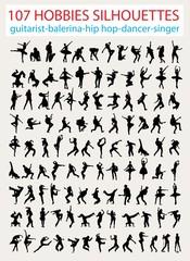 107 Silhouette World of Entertainment, art vector