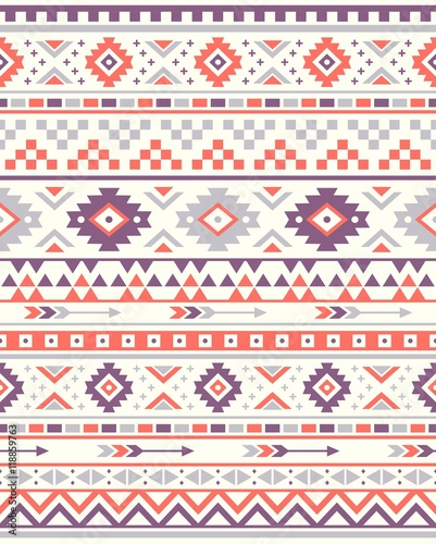 photo relating to Native American Designs Printable called Seamless Ethnic habit textures. Orange Crimson colours