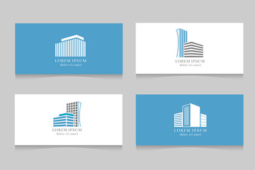 Real estate logo with business card template design