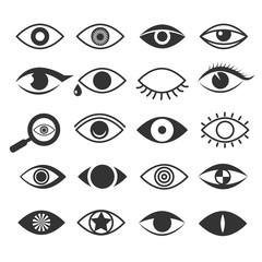 Eyes eye vision vector icons set