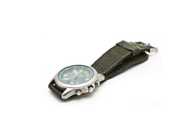 old wristwatch on white background