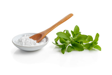 Stevia leaves and powder