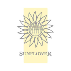 sign sunflower flower yellow rectangle
