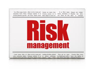 Business concept: newspaper headline Risk Management
