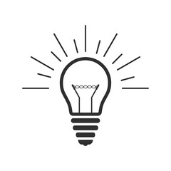 Vector lightbulb outline icon.