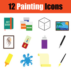 Painting  icon set