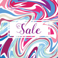 Seasonal Sale Banner Poster, Retro Flyer