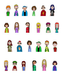 Vector people collection.