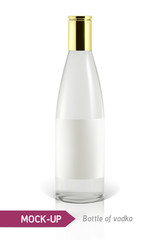 Mockup vodka bottle