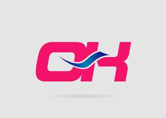 OK Logo. Vector Graphic Branding Letter Element