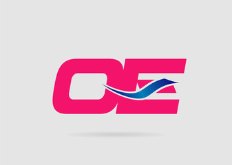 OE Logo. Vector Graphic Branding Letter Element