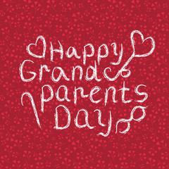 Happy Grandparents Day Vector Background. Elements Pattern Backdrop.