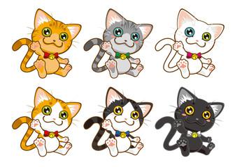 猫のキャラクター6種類